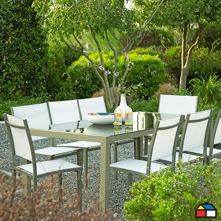 Juego de Málaga aluminio 9 piezas #terraza #jardin