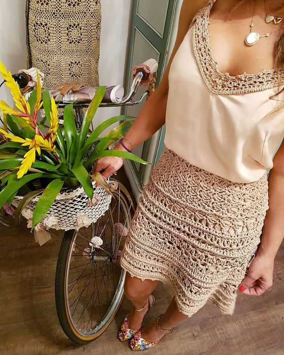 crochet skirt by Vanessa Montoro