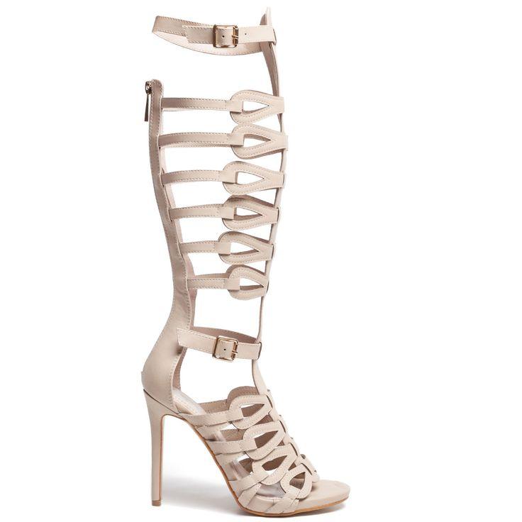 Beige %gladiator sandal