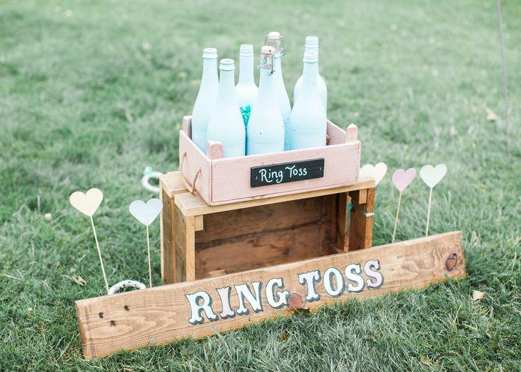 Wedding garden games ring toss