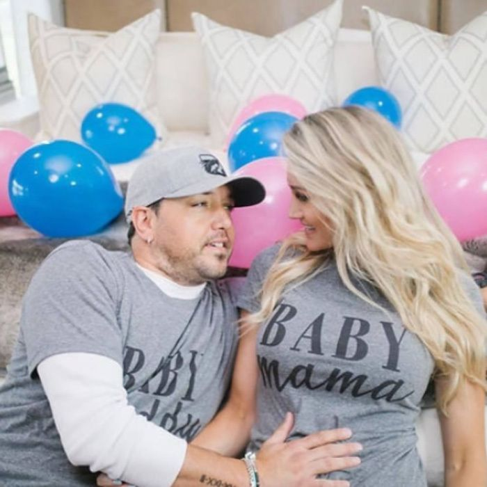 """Jason Aldean and Brittany Kerr  The Take a Little Ride singer and his wife of two years are expecting their first child together. The 40-year-old country star and the American Idol alum announced the news on her social media accounts wearing matching shirts with their words Baby Daddy and Baby Mama on them.   The 28-year-old singer also wrote in the caption: """"This was the hardest secret we've ever had to keep  This journey for us has been full of many happy times & also many tears... The…"""