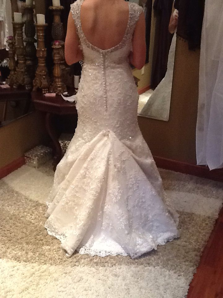Wedding dress bustles pictures of flowers