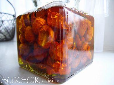 """SUIKSUIK cuisine: Tomates cerises séchées """"MAISON"""""""