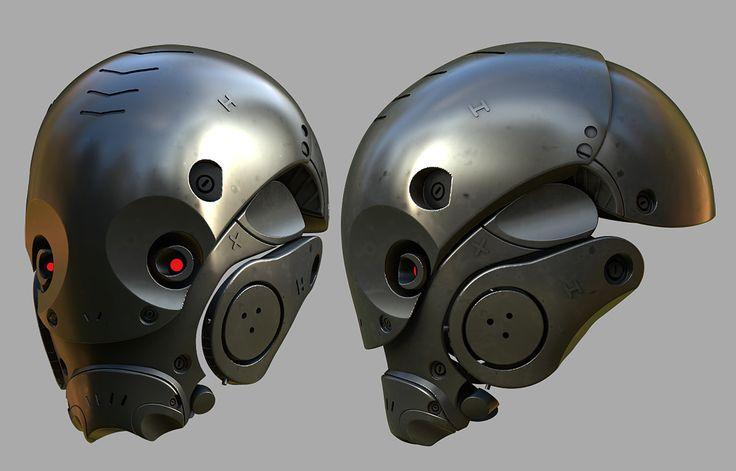 Helmets, Fuad Quaderi on ArtStation at https://www.artstation.com/artwork/5PlyO