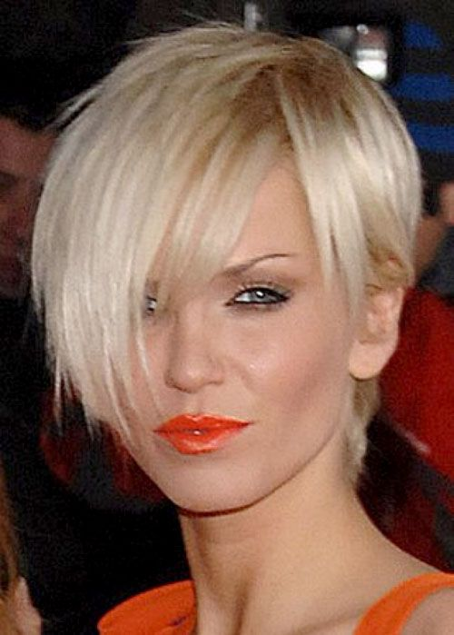 Sarah Harding short blonde hair 2013