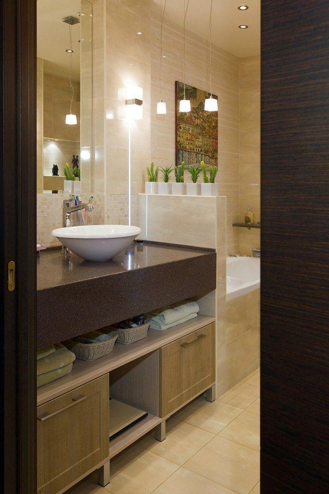 wohnideen badezimmer ohne fenster pendelleuchten decke halogen
