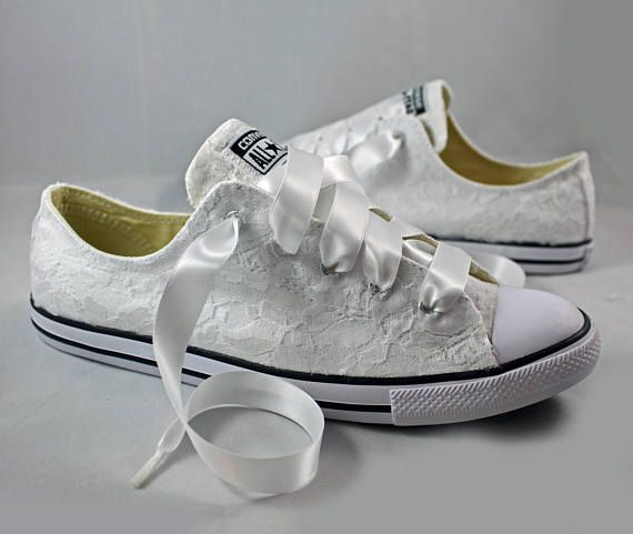 Bridal Converses Lace Converse Wedding Tennis Shoes Wedding