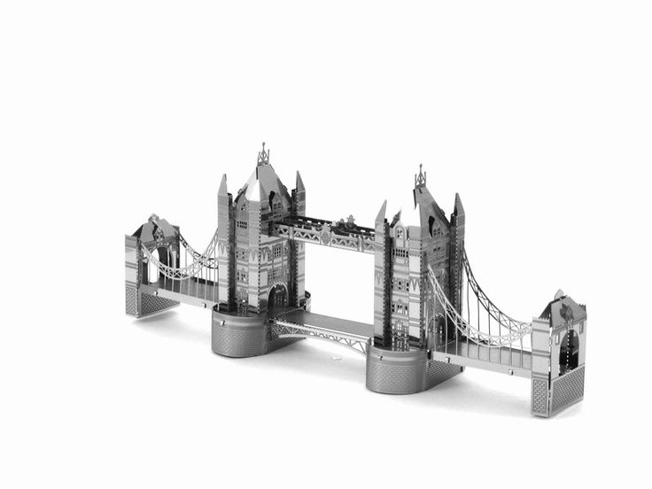 Miniature Landmarks/Buildings 3D DIY Metal Earth Model (20 Variations)