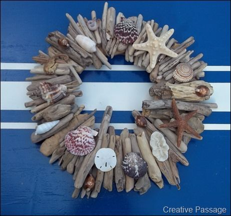This would look so good at my beach house.  Must start out collecting some small pieces of drift wood.