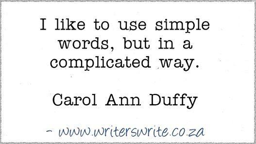 Quotable - Carol Ann Duffy