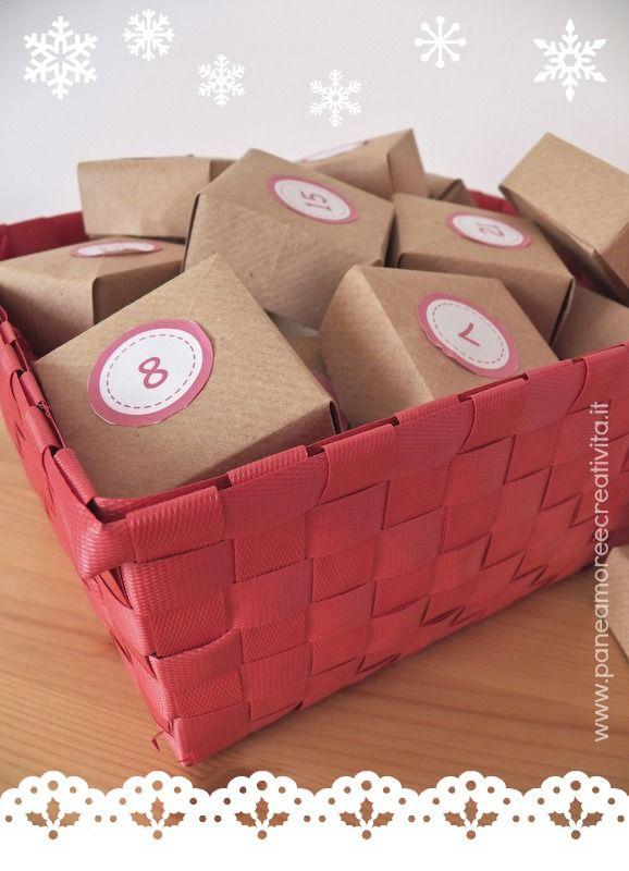 Tutorial: come fare un calendario dell'avvento con le scatoline