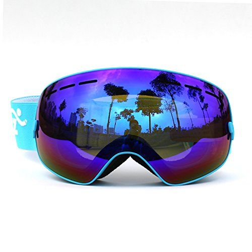 snowboard goggles isgh  COPOZZ Mirrored Professional Ski Goggles Double Lens Anti-fog w/ Anti-UV  400 Skiing Men Women Multicolor Snow / Snowboard Goggles Fit Over Glasses  Blue