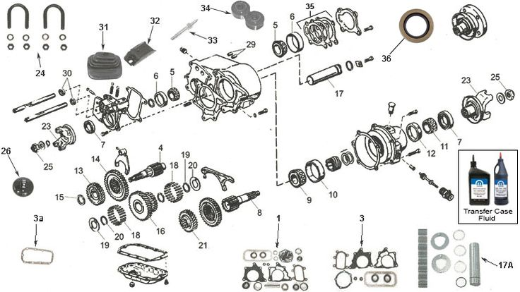 Dana Model 20 Transfer Case Parts And Diagram For Cj7
