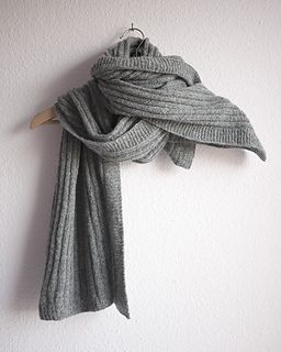 A scarf that is equal parts luxury and everyday wear. Delicate simple lines and simple untaxing knitting.