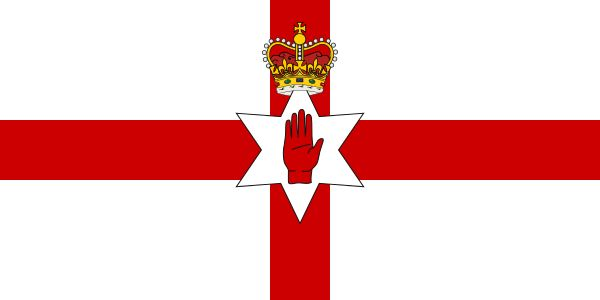 Ulster Banner - It was used by the Northern Ireland government from 1953 until the government and parliament were abolished in 1973.