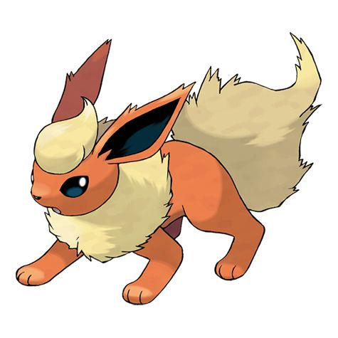 Flareon's fluffy fur has a functional purpose—it releases heat into the air so that its body does not get excessively hot. This Pokémon's body temperature can rise to a maximum of 1,650 degrees Fahrenheit.