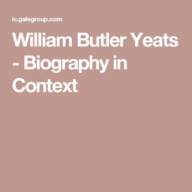 william butler yeats essays Immediately download the william butler yeats summary, chapter-by-chapter analysis, book notes, essays, quotes, character descriptions, lesson plans, and more - everything you need for studying or teaching william butler yeats.