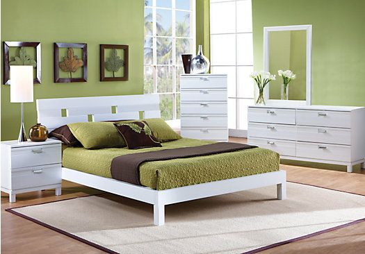 shop for a gardenia white 5 pc king bedroom at rooms to go