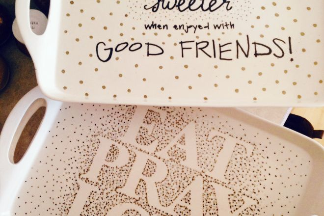 Christmas Gifts | DIY Painted Platters