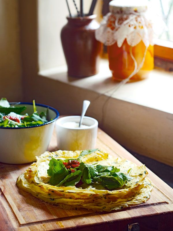 Thin Herb Omelet Egg Wraps.  The most delicious eggs you will eat this week.