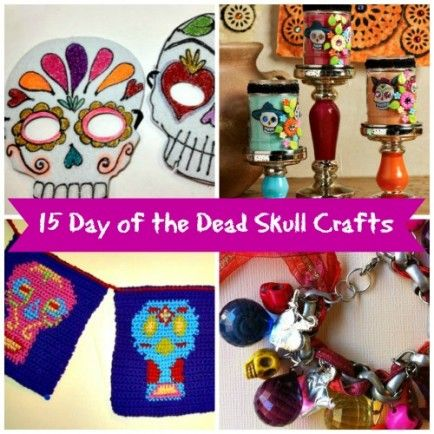 15 Day of the Dead Skull Crafts - click for the tutorials