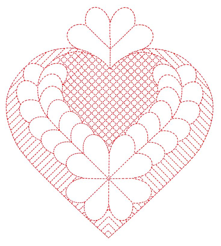 Q is for Quilter » Blog Archive » Heart Quilting Patterns