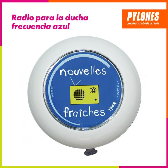 Radio para la ducha frecuencia azul #Hogar #Casa #Color