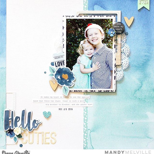 Today I'm up on the @cocoa_vanilla_studio blog sharing this layout featuring the gorgeous new Wild at Heart collection! Pop on over there for closeups and all the details! #cocoavanillastudio #cocoa_vanilla_studio #cvswildatheart #cvsdesignteam #scrapbooklayout