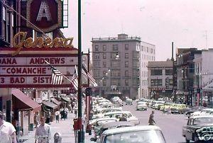 35mm-Slide-Geneva-NY-Street-Scene-Cars-Seneca-Hotel-Movie-Theater-Comanche-1956