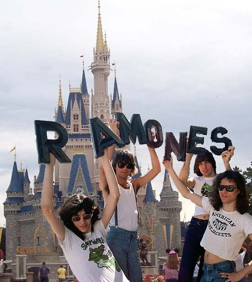 I can die now. My 2 worlds have collided. The RAMONES at Disney!