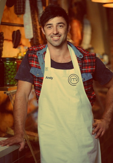 Andy of masterchef australia.... just too damn gorgeous. and he cooks. AHH.