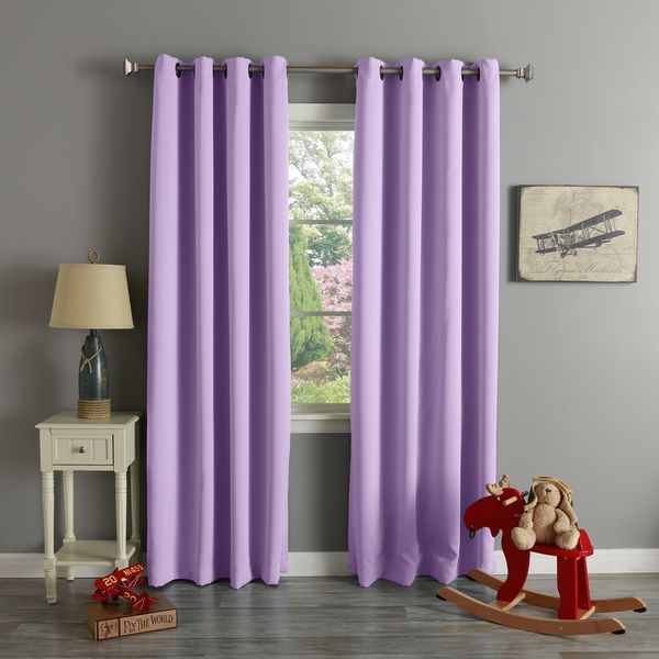Lights Out Grommet Top Thermal Insulated Blackout Curtain Panel Pair    Overstock Shopping   Great Deals On Lights Out Curtains