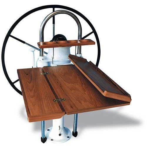 Boat Cockpit Table Foldable Teak Lewmar שולחן לסירה