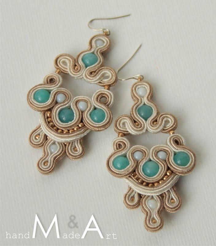 wanilia z lodem kolczyki sutasz soutache earrings 7_1