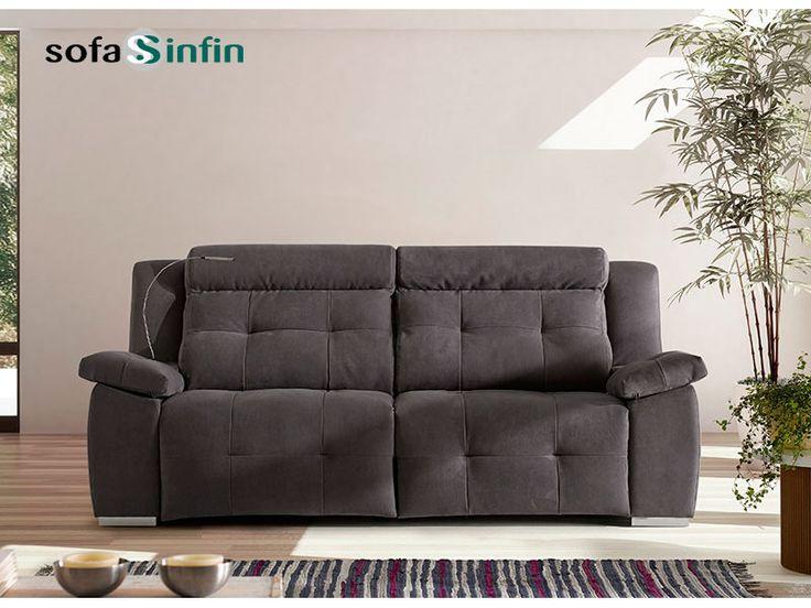 Sofá relax de 3 y 2 plazas modelo Saxo fabricado por Acomodel en Sofassinfin.es