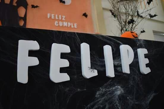 Decoración cumpleaños #Halloween #Felipe