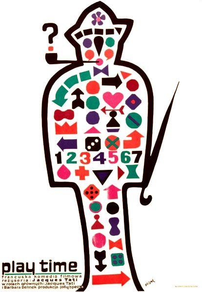 PLAYTIME de Jacques Tati (1967) #poster #affiche #polonaise #polish #tati #pologne #poland  #french #film #france #francais