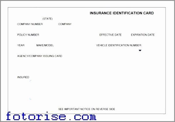 Auto Insurance Card Template Pdf Luxury Illinois Fake Insurance Card Fill Line Printable Car Insurance Card Template Templates