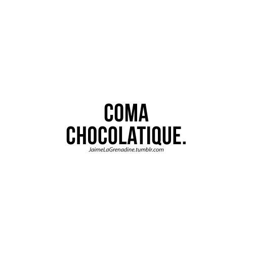 Coma chocolatique - #JaimeLaGrenadine