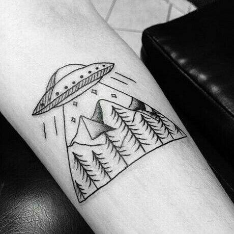 #tattoo #tatuagem #ovni #abduction #ufo #spaceship #scifi #sciencefiction #xfiles #arquivox