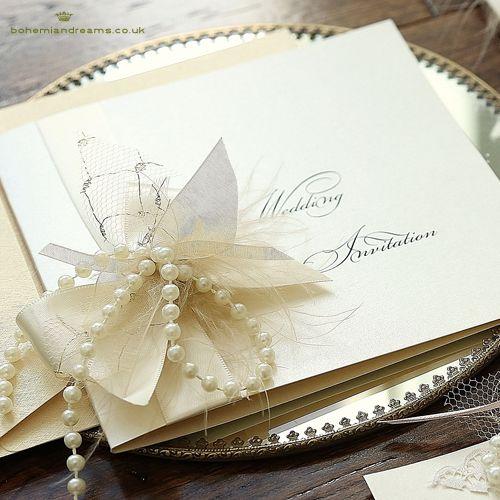Simply, lovely, antique wedding invitation www.bohemiandreams.co.uk