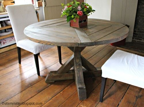 """That's My Letter: """"X"""" is for X Base Circular Dining Table"""