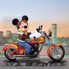 pictures of mickey mouse riding a harley davidson