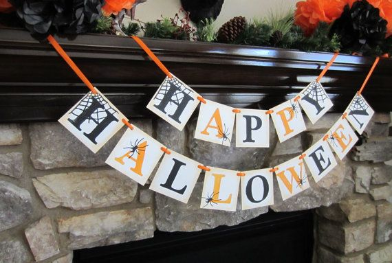 I love this adorable Halloween banner by CowCountryCreations.  Visit their etsy shop!