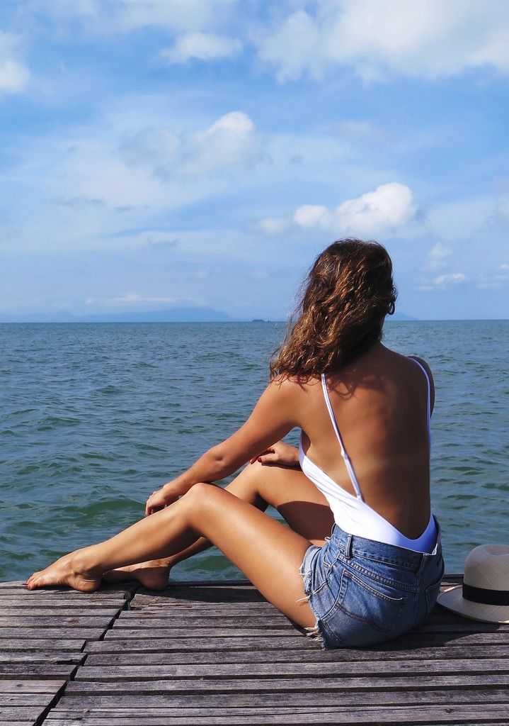 Simple holiday outfits… DIY shorts and Her swimsuit http://apairandasparediy.com/2015/07/a-quick-guide-to-cambodia-phnom-penh-kep.html