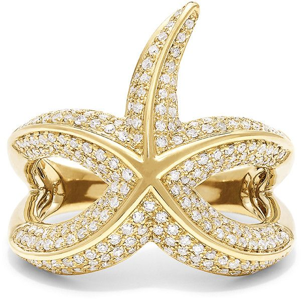 Effy Jewelry Effy D'Oro 14K Yellow Gold Diamond Starfish Ring, 0.90... (9.120 BRL) ❤ liked on Polyvore featuring jewelry, rings, 14 karat gold diamond ring, 14 karat diamond ring, 14k ring, gold rings and gold diamond rings
