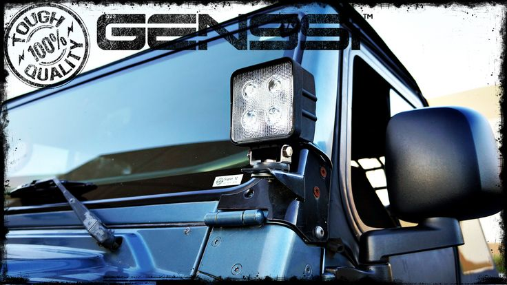 48W LED Spot Beam Lamp on Jeep Wrangler