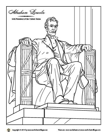find this pin and more on kids travel stuff abraham lincoln monument coloring page