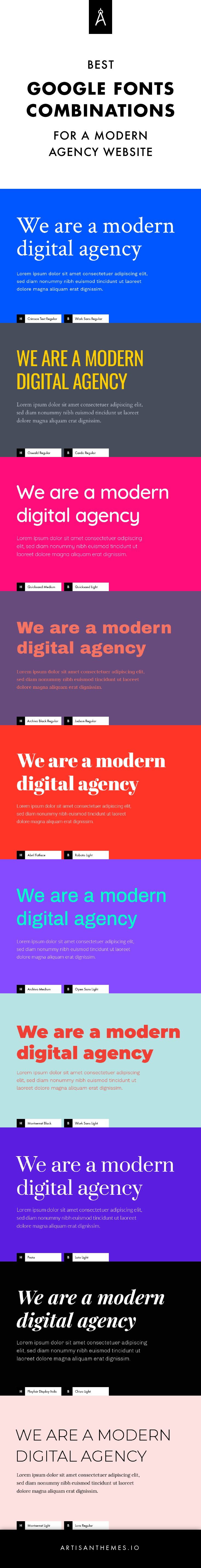 10 Best Google Fonts Combinations for a Modern Agency Website (Including Color Palettes!) - Artisan Themes