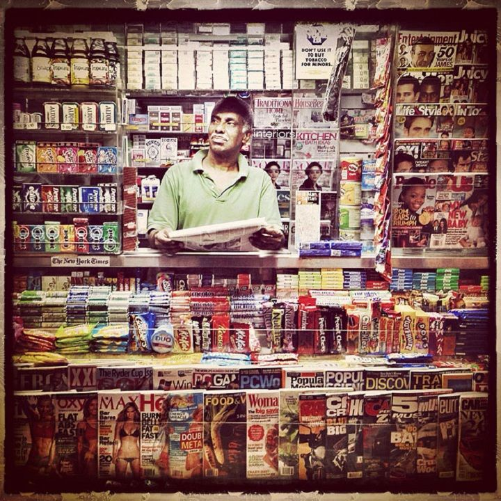 Trevor Traynor: Newsstand    ews Stand, in which besides newspapers can find food, pills, condoms, cigarettes, and other things necessary for survival – the embodiment of the essence of the Big City for the photographer Trevor Traynor.